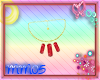 Red Crystal Gold Necklac