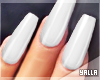 GEL Coffin Nails WHITE