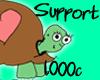 |P| Support - 1,000c