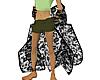 M/F BlackRose Lace Shawl