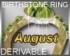 Birthstone Ring August