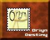 ^OD^ Oriyn stamp