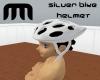 Silver Cycle Helmet