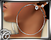 .c Silver hoops