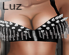 Luz - Top Black  Spiked