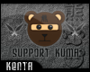 (K) Support Kuma Sticker