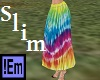 !Em Tiedye Hippy Skirt S