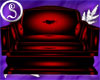ⓈRed PVC Cuddle Chair