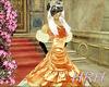 HRH Silk Peach Ballgown