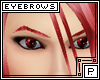 *P Eyebrows Crimson
