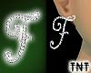 Diamond F Earrings