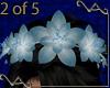 Blue Wedding Lily Crown
