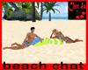 beach chat pillow
