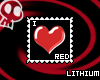 I Love Red Stamp