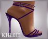 K lea purple heels