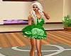 Green Rose Dress