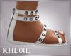 K white sandals