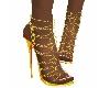 zapato cadena dorada
