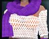 Purple Scarf & Glove