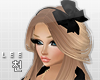 ! Black Bow Headband