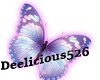 Purple glow butterfly