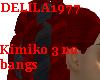 Kimiko3-Dark red/Black