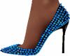 Turquoise Studded Heels