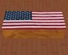 U.S. Flag Draped Coffin