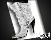 (X)Cowboy Boots white