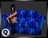 ♛ Blue Lightning Couch