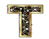 Gold & Diamonds Letter T