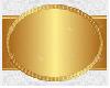 BG gold horiz oval