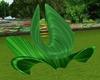 Green Rose Lotus Chair