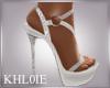 K white glitter heels