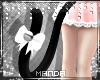 .M. Kitten Tail Black/Wh
