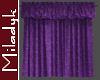 MLK Purple Closed Drapes