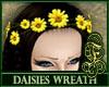 Daisies Wreath Yellow
