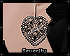 *S Goth Heart Earrings