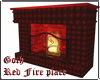 Gothic Red Fireplace