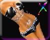 ! Toxic black pvc glitte