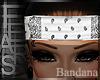 [ⅎ] White Bandana