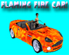 Animated Flames Fire Car
