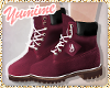 [Y] Maroon Chill Booties