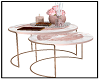rosegold coffee table