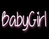 Baby girl head sign