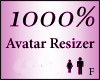 Avatar Resize Scale 1000