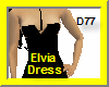 Elvia Short Dress-Black