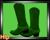 [HB] Cowgirl Boots-Green