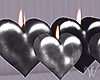 Silver Heart Candles