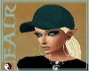 >F< Teal Hat Blonde Hair
